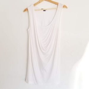 Vince White Drape Front Tunic Top XS